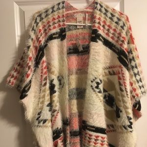 Free People soft and cozy poncho OS BNWT
